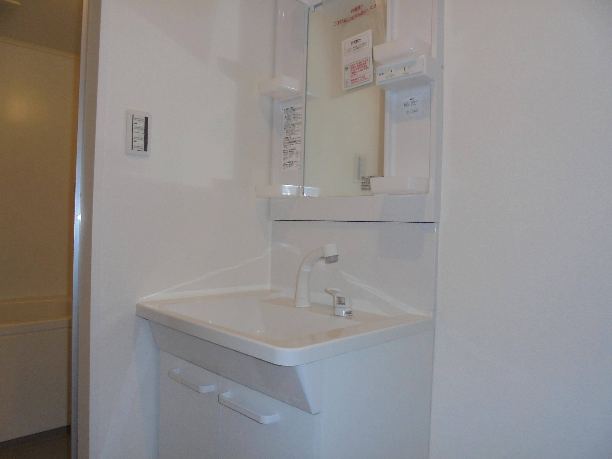 シャワー付化粧台